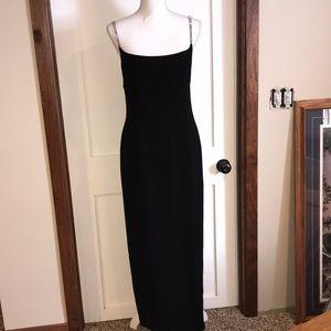 Ellen Tracy Black and Rhinestone Formal Dress
